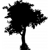 Tree Silhouette Background Stamp 2