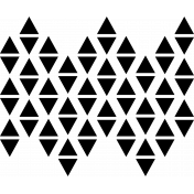 Background stamp / stencil template- Triangles