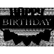Happy Birthday digital stamp/sticker template