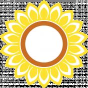 Sunflower sticker- no white border