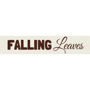 Autumn Art- Falling Leaves Label