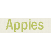 Autumn Art- Apples Label