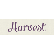Autumn Art- Harvest Label