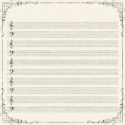 Distressed Vintage Look Music Paper