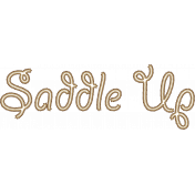 """Saddle Up"" Sisal Rope Word Art(2)"