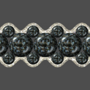 Black Pearl Affair Ribbon 3-strand Wide 2(1)