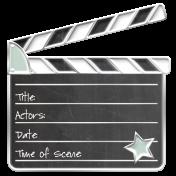 Enamel Pin - MOVIE - Movie CLAPPER BOARD