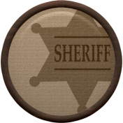 Cowboy Flair- Sheriff Badge