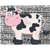 Barnyard Fun- Stamped Cow