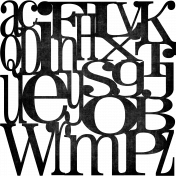 Alphabet paper overlay- Black