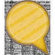 Chipboard Speech bubbles- Yellow