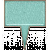 Chipboard Speech bubbles- Turquoise