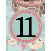 baby card, month#11