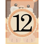 baby card, month#12