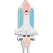 Reach August 2020 Blog train, space shuttle sticker
