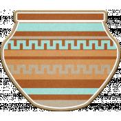 Sedona Sunrise - chipboard pottery