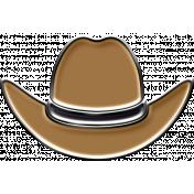 Just Me in Denim- Enamel cowboy hat
