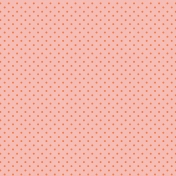 Hello Spring Peach Dot Paper