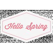 Hello Spring Label 3