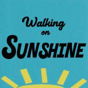 Walking on Sunshine 4 x 4 Journaling Filler Card