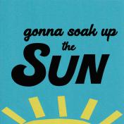 Soak Up the Sun 4 x 4 Journalling Filler Card