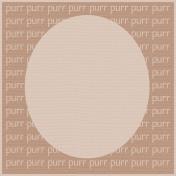 Brown Cat Purr 4 x 4 Journaling Card