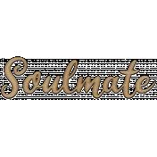 Soulmate Word Word Art