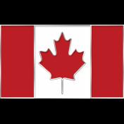 Canada Flag Enamel Pin Element
