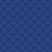 Dark Blue Celtic Triquetra Knot Paper