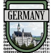 Germany Word Art Crest