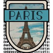 Paris Word Art Crest
