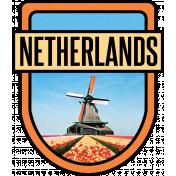 Netherlands Word Art Crest