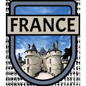 France Word Art Crest 2