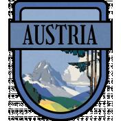 Austria Word Art Crest