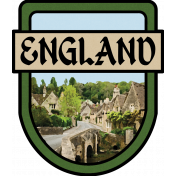 England Word Art Crest