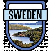 Sweden Word Art Crest
