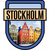 Stockholm Word Art Crest