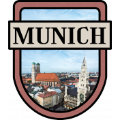Munich Word Art Crest