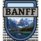Banff Word Art Crest