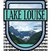 Lake Louise Word Art Crest