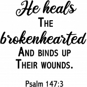 Heals Biblical Quote Word Art