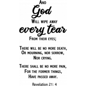 Tear Biblical Quote Word Art