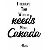 More Canada Quotation Word Art