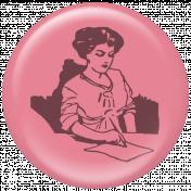Vintage Woman Writing Flair MyJ