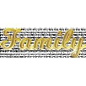 Gold Family GThanks Word Art