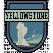Yellowstone National Park Word Art Crest
