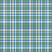 Green Blue Plaid DRetire Paper