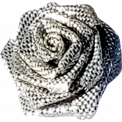 Shiny Silver Rose