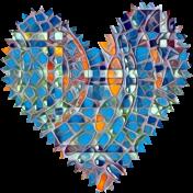 zigzag edged fabric heart