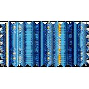 Zigzag Edge Striped Fabric Swatch